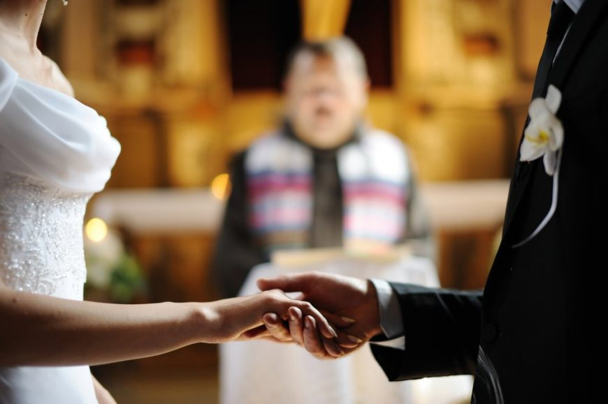 Casamento - Noivos no Altar